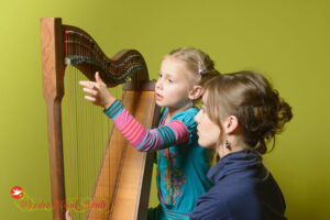 Harfenunterricht an der WunderMusikSchule